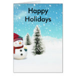 Snowman in the Snow Greeting Cards