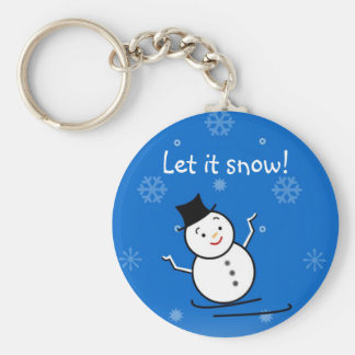 Snowman in the Snow Keychain