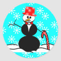 Snowman in Top Hat Gifts sticker