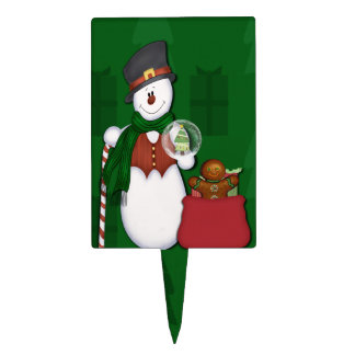 Snowman in Tophat Cake Topper