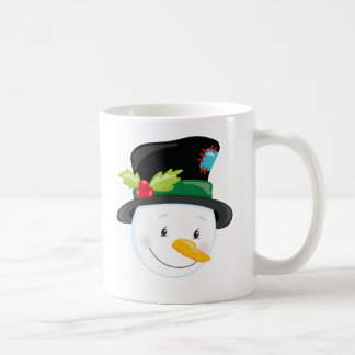Snowman in Tophat Christmas Holiday Coffee Mug
