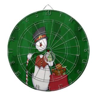 Snowman in Tophat Dart Board