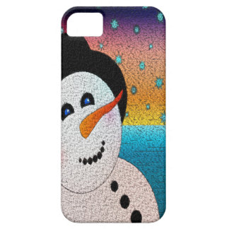 Snowman In Tophat iPhone SE/5/5s Case