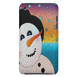 Snowman In Tophat iPod Case-Mate Case