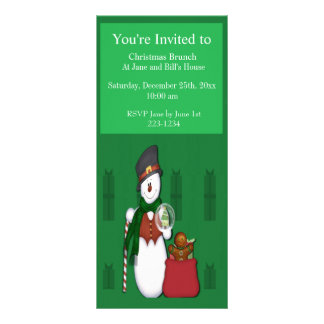 Snowman in Tophat Rack Card