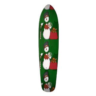 Snowman in Tophat Skateboard Deck