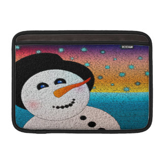 Snowman In Tophat Sleeve For MacBook Air