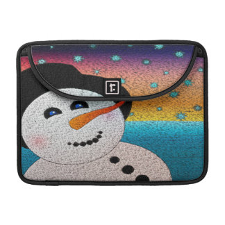 Snowman In Tophat Sleeve For MacBooks