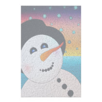 Snowman In Tophat Stationery