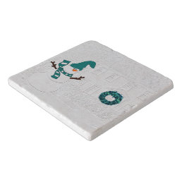 Snowman in Winter for Seasonal Dining Trivet