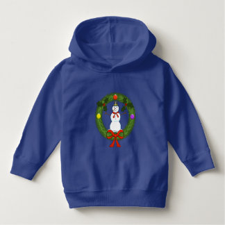 Snowman in Wreath Toddler Hoodie