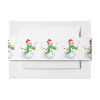Snowman Invitation Belly Band