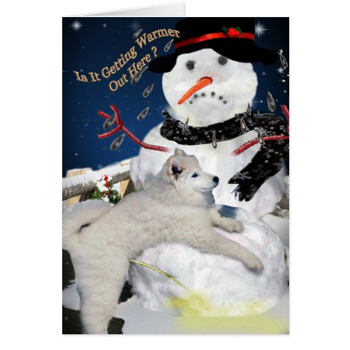 Snowman It is getting Warm Out Here Card