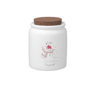 Snowman Jar Candy Dish
