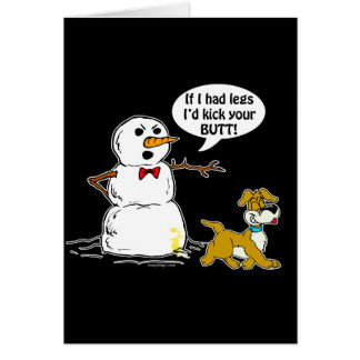 Snowman Joke Greeting Card