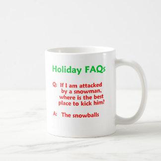 Snowman Joke Double Entendre Holiday Funny Coffee Mug