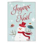 Snowman Joyeux Noël Christmas Cards