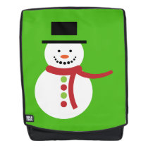 Snowman Kelly Green Backpack