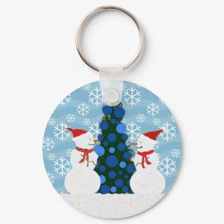 Snowman Keychain keychain