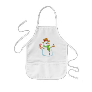 Snowman Kids' Apron