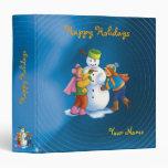 Snowman & kids - Happy Holidays - Binder