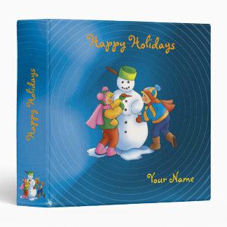 Snowman & kids   Happy Holidays Binder