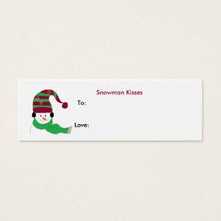 Snowman Kisses - Gift Tag