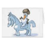 Snowman Knight Card