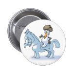 Snowman Knight Pinback Button