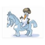 Snowman Knight Postcard