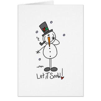 Snowman Let it Snow Card