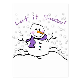 Snowman Let it Snow Gifts Post Cards
