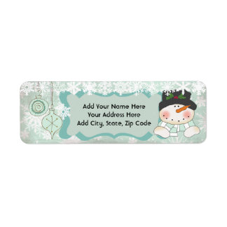 Snowman Let it Snow Holiday Return Address Labels