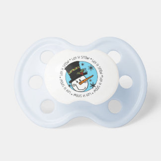 Snowman Let It Snow Pacifier