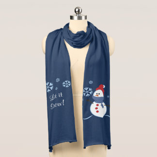 Snowman Let it Snow Scarf