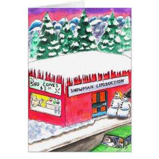 Snowman Liposuction Card