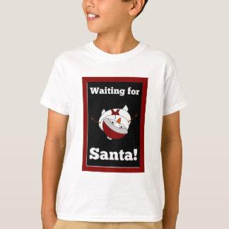 Snowman looking for Santa Claus T-Shirt