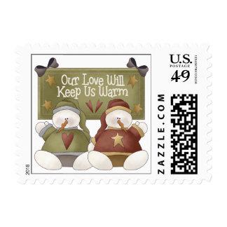 Snowman Love Stamp