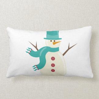 Snowman Lumbar Pillow