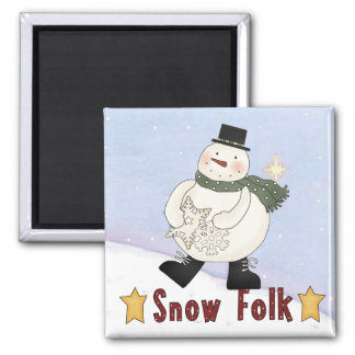 Snowman Magnety Refrigerator Magnet