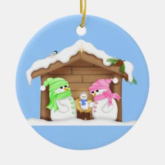 Snowman Manger Ornaments