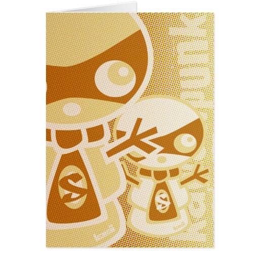Snowman Mascot Greeting Cards