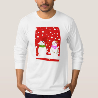 Snowman Meets Snowlady T-Shirt