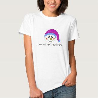 Snowman Melt My Heart Shirt