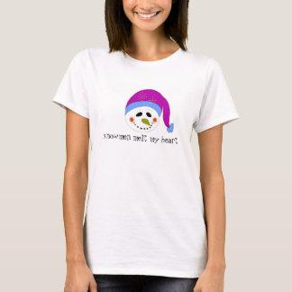 Snowman Melt My Heart T-Shirt