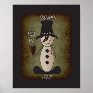 Snowman Melt Yout Heart | Snowmna Poster
