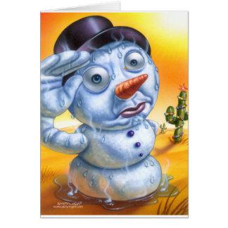snowman_melting greeting card