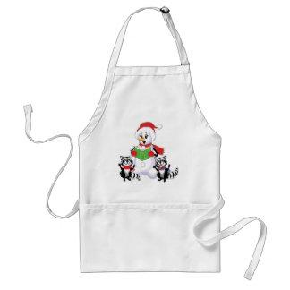Snowman, Merry Christmas Adult Apron