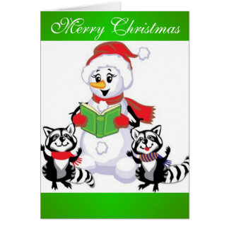 Snowman, Merry Christmas Greeting Card