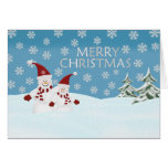Snowman: Merry Christmas Greeting Card